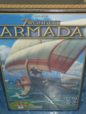 7 Wonders Armada Expansion Repos Production Games Board Game New! Seven Wonders