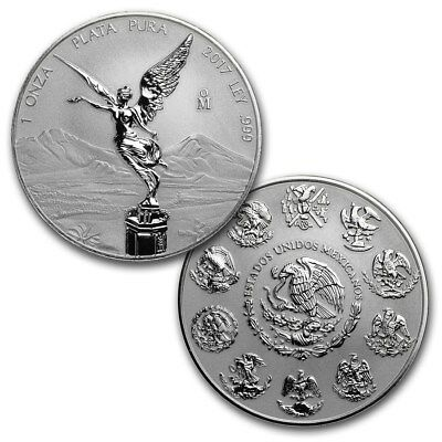 * Key Date * Libertad – Mexico – 2017 1 Oz Reverse Proof Silver Coin In Capsule