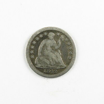 1842 Liberty Seated Half Dime 5C United States Silver Coin #9