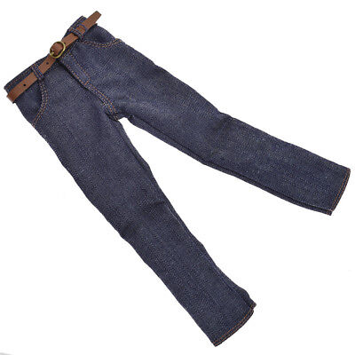 1:6 Doll Clothes Dark Blue Handmade Jeans Pants Mini For Ken Doll Trousers Wear