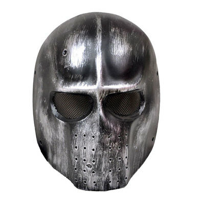 Grey Full Face Wire Mesh Protection Airsoft Paintball Mask PROP Cosplay M613