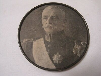 Antique Pocket mirror with the image General António Óscar de Fragoso Carmona