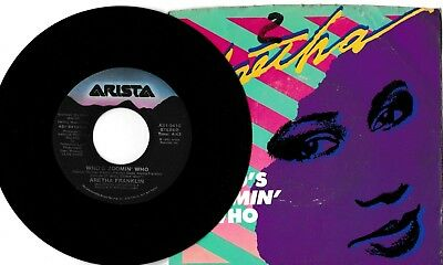 """Aretha Franklin Who's Zoomin' Who/Sweet Bitter Love 45 RPM 7"""" Vinyl """"NM"""""""