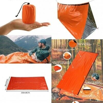 3pcs Emergency Sleeping Bag Tent Mat Thermal Waterproof Reusable Survival