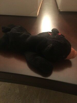Beanie Babies Baby Ty Blackie the Bear Black 1994 Retired Collectible No Tag