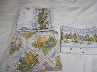 Disney Pooh Twin Sheet Set not vintage