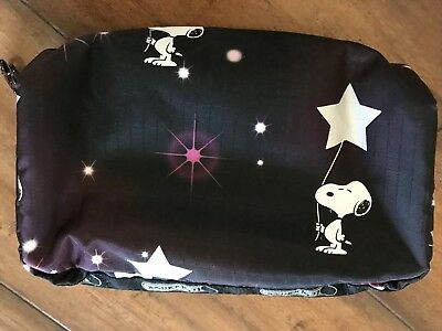 """LESPORTSAC """"SNOOPY IN THE STARS"""" SMALL COSMETIC BAG • NWOT • 6.5"""" x 4"""" x2"""""""