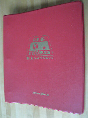 Space 1999 Moonbase Alpha Technical Notebook 1977 EXC. CONDITION! Free Shipping!