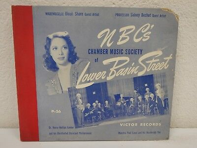 "Nbc's Chamber Music Society Of Lower Basin Street 10 ""/ 78 Rpm 3-disc Libro"