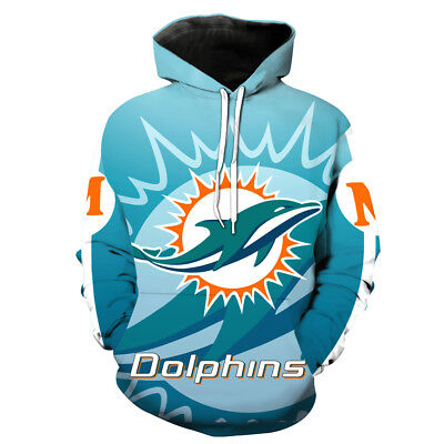 save off 0266d 0c1b8 NFL MIAMI DOLPHINS Fans Fashion Men's Soft Hoodies Sweater Jackets