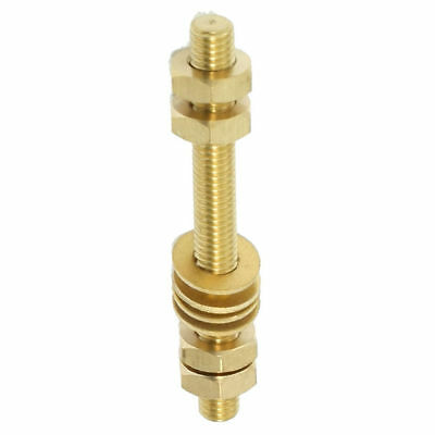 1 set 10mm x 100mm Threaded Rod Brass Double Headed Bolt Fastener with Hex Nuts