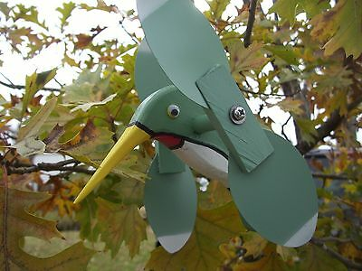 Light Green Hummingbird Mini Whirligigs Whirligig Windmill Yard Art Hand made