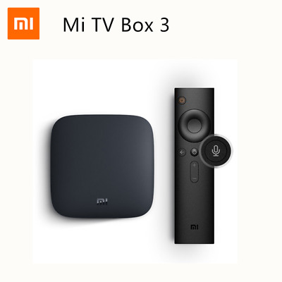 Xiaomi Mi TV Box 3 Android 8.0 2GB+8GB Quad Core 4K Smart WIFI Media Player Caja