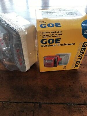 NEW GENTEX GOE WEATHERPROOF OUTDOOR  ENCLOSURE WHITE LENS Use W/ UL 1638