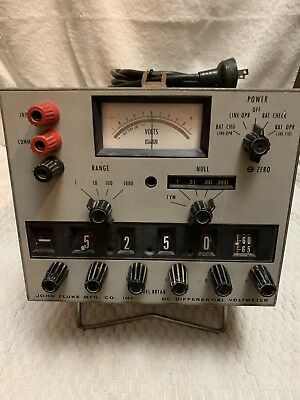 Vintage Fluke 881AB DC Differential Voltmeter Good Condition Rare