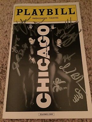Chicago Authentic Signed Playbill Autograph