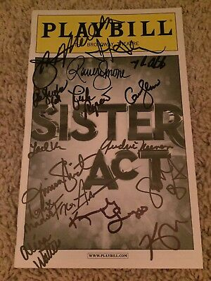 Sister Act Authentic Signed Playbill Autograph
