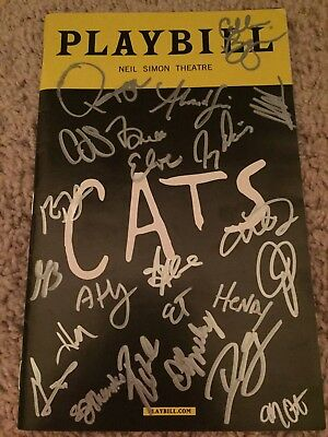 Cats Authentic Signed Playbill Autograph