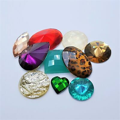 10pc Multi Coloured Crystal Pack