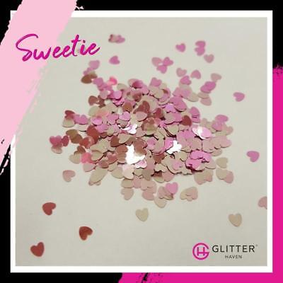 Sweetie - Hearts Pink Cosmetic Grade Glitter | Aust