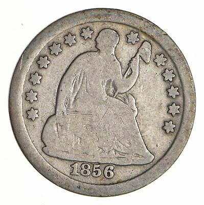 5c ***1/2 Dime** - 1856 Seated Liberty Half Dime - Early American Type Coin *945