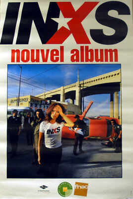 Inxs poster Elegantly Wasted - Nouvel Album French promo 31 X 47 MERCURY/FNAC