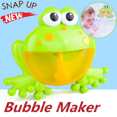Frog Bubble Maker Automated Spout Bubble Machine Bath Shower Kids Fun Toy Box Y8