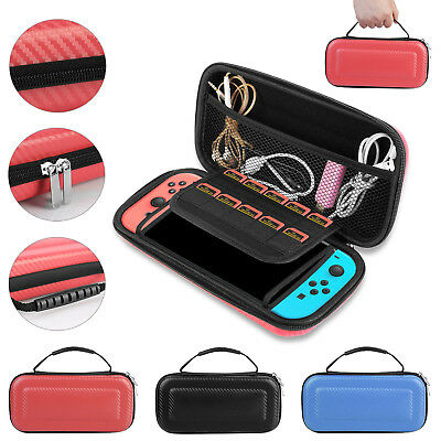 Portable Bag Nintendo Switch Carrying Pouch Shell Hard Carbon Travel Fiber Case