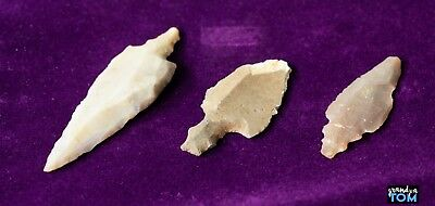Saharan Neolithic / Holocene Wet Phase Point Arrowheads between 3000-7500 yr old