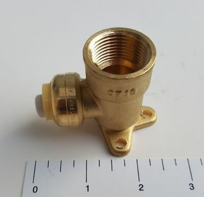 "1 To 50 Pcs. 1/2"" Push Fit X 3/4"" Female Npt Drop Ear Elbow, Lead Free Brass Nsf"