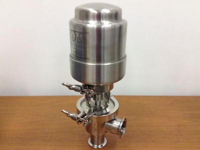 "Ladish - Tri-Clover - 1-1/2"", 316L Stainless Steel Pneumatic Actuated Plug Valve"