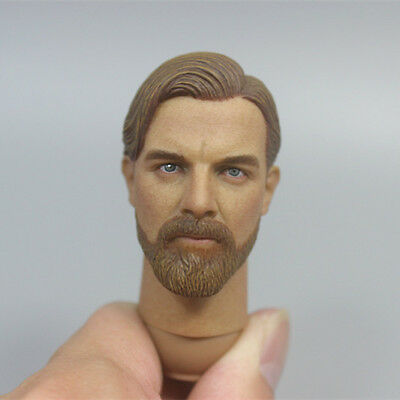 "EASY&SIMPLE 1/6 Scale Obi-Wan Head Sculpt SMU Tier For 12"" Male Toys Action"