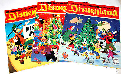 3 x RARE VINTAGE DISNEYLAND COMICS CHRISTMAS & HOLIDAY EDITIONS - EXCELLENT 1971