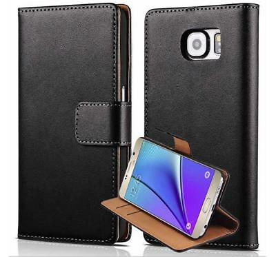 Genuine Leather Wallet Flip Case Cover For Samsung Galaxy A8 A6 Plus J2 Pro 2018