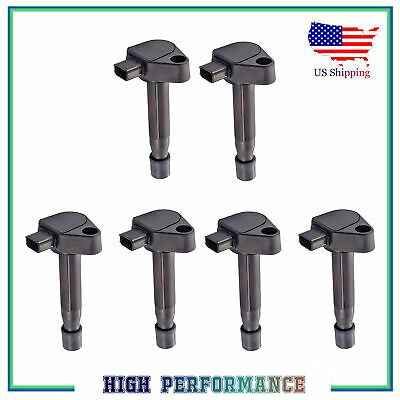 6PCS Ignition Coil For UF242 Honda Accord Odyssey Acura TL CL RL 3.0L 3.2L 3.5L