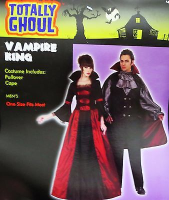 Totally Ghoul Vampire King Costume Shirt Halloween Dracula NEW