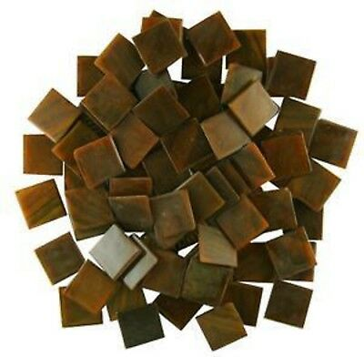 Glass Mosaic Tiles - 25 Tiles  - 3/4 inch OLIVE BROWN SWIRL Vitreous