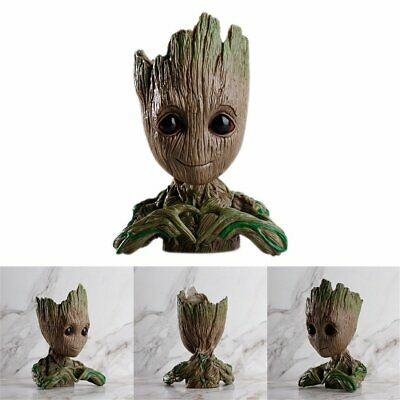 Guardians of The Galaxy Vol. 2 Baby Groot Action Figure Flowerpot Pen Pot New ON