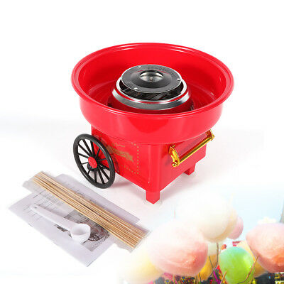 Vintage Red Electric Cotton Candy Making Machine Sweet Candyflos Maker 450W 110V