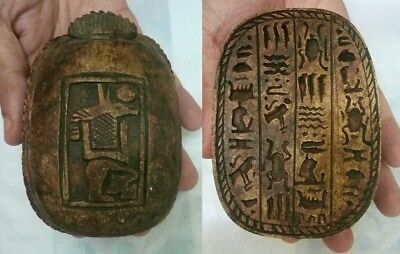 RARE ANCIENT EGYPTIAN ANTIQUE SCARAB Blank Stone 1335-115 BC