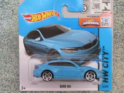 Hot Wheels 2015 #024/250 BMW M4 blue HW CITY  New Casting 2015