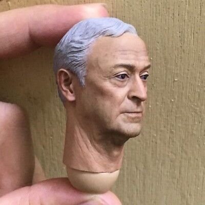 """In stock 1/6th Scale White Hair Professor Head Sculpt For 12"""" Male Toys Action"""