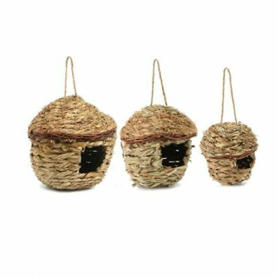 Birds Nest Natural Grass Egg Cage Weaved Hanging Parrot House Outdoor Decorative