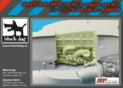 Black Dog A48058 1/48 Agusta-Westland Merlin HC.3 engine set N°1