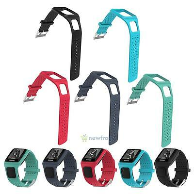 Replacement Silicone Strap Band For TomTom Cardio Runner Multi Sport GPS Watch