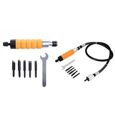 7/8Pcs Wood Chisel Carving Knives Wrench Flexible Shaft Set for Electric Drill