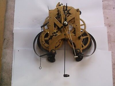 MECHANISM  FROM AN OLD ACCTIM 31 DAY WALL  CLOCK working order WITH HANDS REF66
