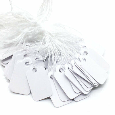 500pcs Blank White Paper String Label Jewelry Pricing Tags Display Wholesale