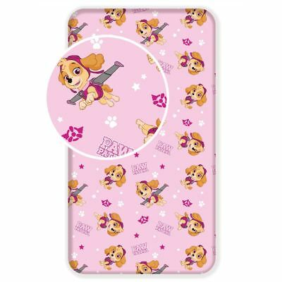 Paw Patrol Skye Single Fitted Sheet Bedding Childrens Pink