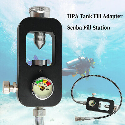 Scuba Station Paintball 4500psi Hose Stainless For Air Fill Station Hose Filling